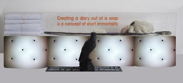 soap diary, mixed media, 2010