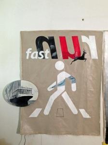 """run fast"". oil on canvas, 2014"
