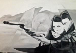 """spring"", oil on canvas, 100x60cm, 2015"