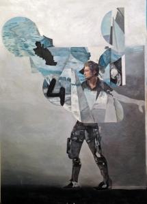 """totem scarecrow"", 140x100cm, oil on canvas, 2014-15"